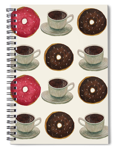 Donuts And Coffee - Spiral Notebook