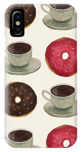 Donuts And Coffee - Phone Case