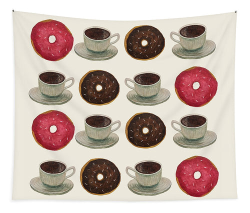 Donuts And Coffee - Tapestry