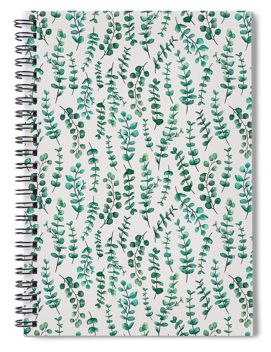 Eucalyptus Watercolor Pattern - Spiral Notebook