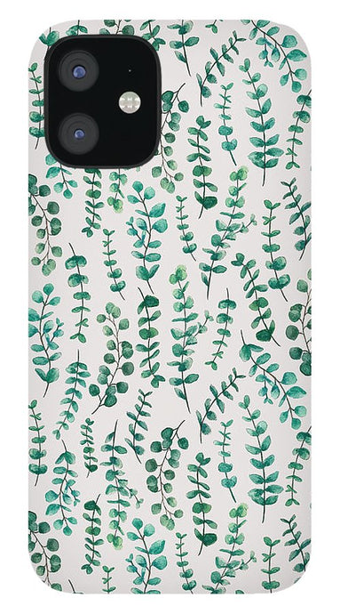 Eucalyptus Watercolor Pattern - Phone Case