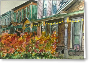 Fall Cottage Homes - Spiral Notebook
