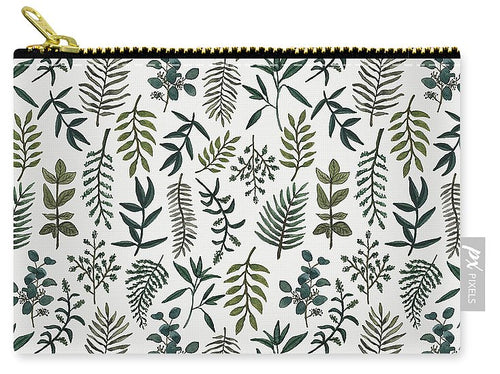 Fern Watercolor Pattern - Carry-All Pouch