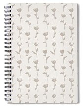 Load image into Gallery viewer, Ink Flower Pattern - Spiral Notebook