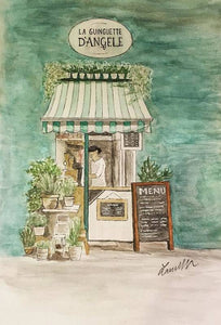 Flower Shop - Metal Print