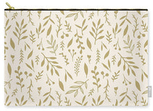 Load image into Gallery viewer, Gold Falling Leaves Pattern - Carry-All Pouch
