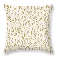 Load image into Gallery viewer, Gold Falling Leaves Pattern - Throw Pillow