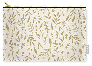 Gold Falling Leaves Pattern - Carry-All Pouch