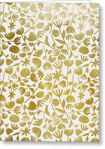 Gold Ink Floral Pattern - Greeting Card