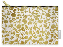Load image into Gallery viewer, Gold Ink Floral Pattern - Carry-All Pouch