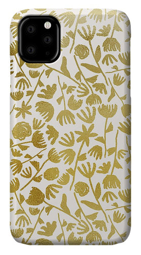 Gold Ink Floral Pattern - Phone Case