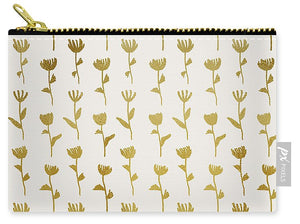 Gold Ink Flower Pattern - Carry-All Pouch