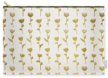 Load image into Gallery viewer, Gold Ink Flower Pattern - Carry-All Pouch