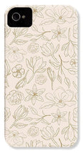 Load image into Gallery viewer, Gold Magnolia Pattern - Phone Case