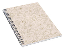 Load image into Gallery viewer, Gold Magnolia Pattern - Spiral Notebook