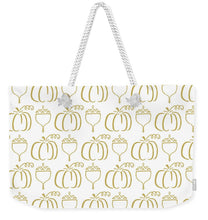 Load image into Gallery viewer, Gold Pumpkin Pattern - Weekender Tote Bag