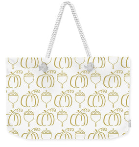Gold Pumpkin Pattern - Weekender Tote Bag