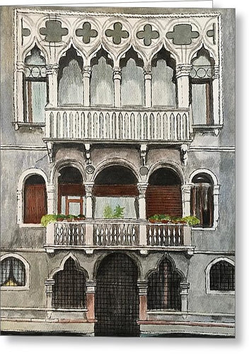 Gray Walls Venice - Greeting Card