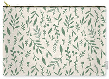 Load image into Gallery viewer, Green Falling Leaves Pattern - Carry-All Pouch