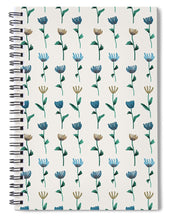 Load image into Gallery viewer, Colorful Ink Flower Pattern - Spiral Notebook