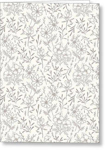 Ivory Flower Pattern - Greeting Card
