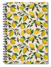 Load image into Gallery viewer, Lemon Blossom Pattern - Spiral Notebook