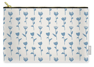 Light Blue Flower Pattern - Carry-All Pouch