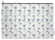 Load image into Gallery viewer, Light Blue Flower Pattern - Carry-All Pouch