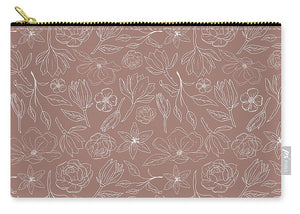 Mauve Magnolia Pattern - Carry-All Pouch