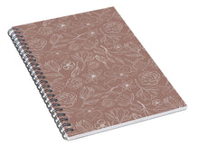 Load image into Gallery viewer, Mauve Magnolia Pattern - Spiral Notebook