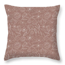 Load image into Gallery viewer, Mauve Magnolia Pattern - Throw Pillow