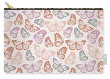 Load image into Gallery viewer, Orange and Pink Butterfly Pattern - Carry-All Pouch