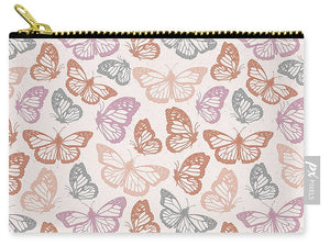 Orange and Pink Butterfly Pattern - Carry-All Pouch