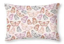 Load image into Gallery viewer, Orange and Pink Butterfly Pattern - Throw Pillow