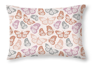 Orange and Pink Butterfly Pattern - Throw Pillow