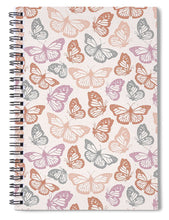 Load image into Gallery viewer, Orange and Pink Butterfly Pattern - Spiral Notebook