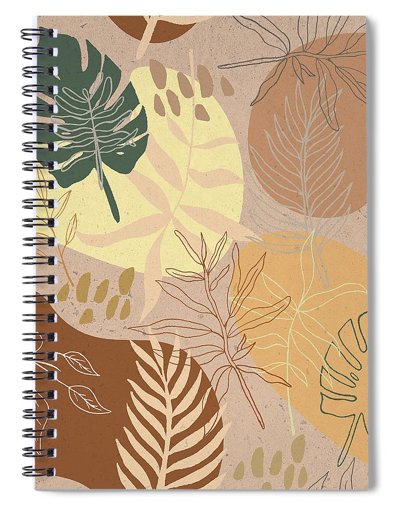 Orange Terracotta Pattern - Spiral Notebook