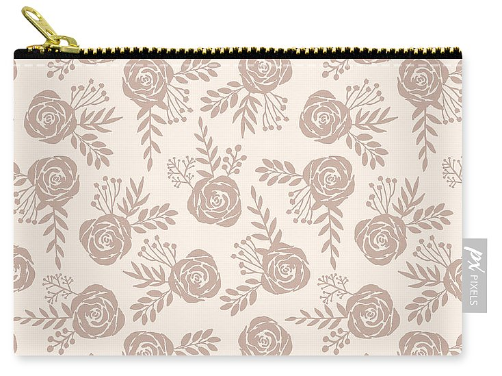 Pastel Floral Pattern - Carry-All Pouch
