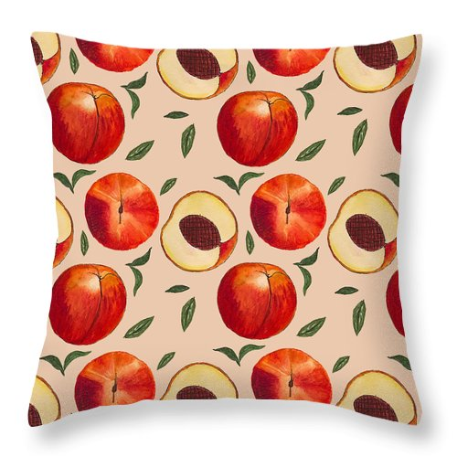 Peach Pattern - Throw Pillow