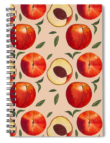 Peach Pattern - Spiral Notebook