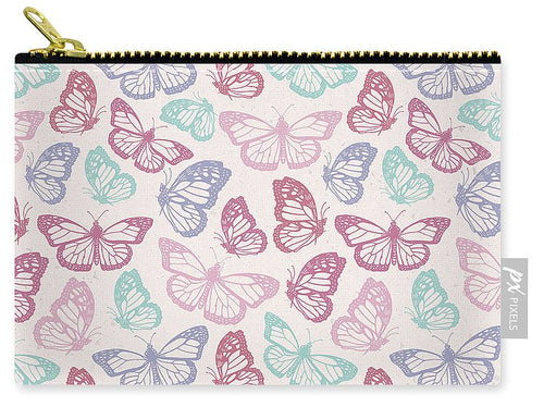 Pink Butterfly Pattern - Carry-All Pouch