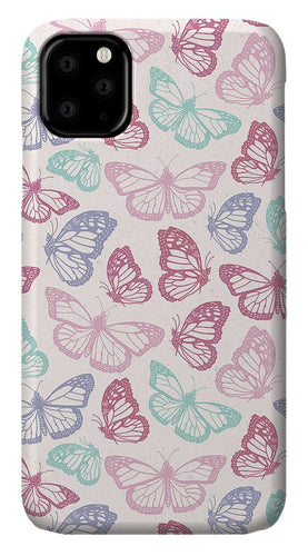 Pink Butterfly Pattern - Phone Case