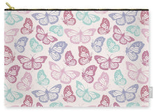 Load image into Gallery viewer, Pink Butterfly Pattern - Carry-All Pouch
