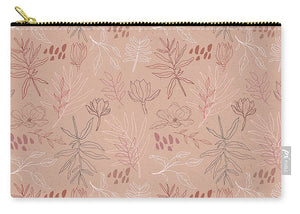 Pink Desert Leaf Pattern - Carry-All Pouch