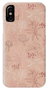 Pink Desert Leaf Pattern - Phone Case