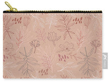 Load image into Gallery viewer, Pink Desert Leaf Pattern - Carry-All Pouch