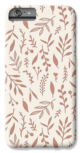 Pink Falling Leaves Pattern - Phone Case