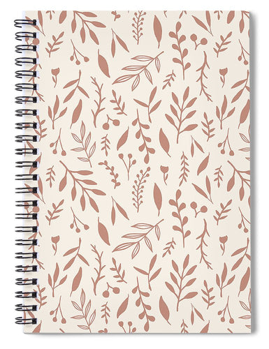 Pink Falling Leaves Pattern - Spiral Notebook