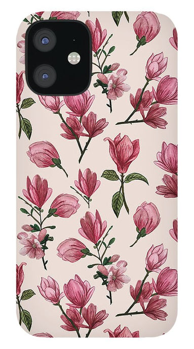 Pink Magnolia Blossoms - Phone Case