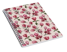 Load image into Gallery viewer, Pink Magnolia Blossoms - Spiral Notebook